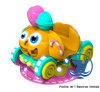 De Machine van het Spel van de Rit van Kiddie van de Auto van de pompoen