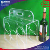 3 Rek van de Wijn van de rij het Acryl voor de Wijn van 5 Flessen