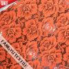 merletto del reticolo di fiore di colore rosso arancione 100%Nylon