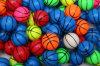 C'est un modèle de la boule élastique de basket-ball/de boule pleine d'entrain