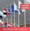 Im Freien wellenartig bewegende preiswerte Staatsflagge mit schneller Produktion