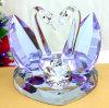 Wedding Gifts를 위한 자주색 Crystal Glass Swan