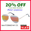 Lunettes de soleil de vente chaudes en métal de la protection UV400