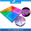 Diodo emissor de luz Flowering portátil colorido Dance Floor da iluminação DMX RGB do disco para o banquete de casamento
