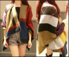 Gimp를 가진 81310139 고체 Color Grid Figure Scarf