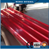 Chapas de aço onduladas galvanizadas revestidas cor para a telhadura