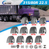 고품질 ECE 점 범위 레테르를 붙이기를 가진 유럽 증명서 (315/80R22.5)를 가진 광선 트럭 타이어