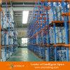 Impulsión de acero industrial resistente en la estantería de la plataforma