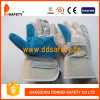 De dubbele Palm versterkte de Blauwe Handschoen Dlc328 van de Veiligheid van het Leer Werkende