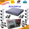 8 Channel DVR Kit with Sony 1200tvl Bullet Camera
