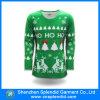 T-shirt van Kerstmis van de Polyester van 100% Man Lange Koker Afgedrukte
