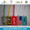 관례는 PVC 수화물 꼬리표 W/PVC 지구 연결관을 인쇄했다