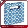 Le modèle bleu d'Eco de fleur met en sac le sac à provisions de papier de qualité personnalisé pour la marque célèbre