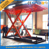 Type étage de ciseaux pour parqueter la table élévatrice verticale hydraulique de véhicule