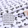 黒いSkull Patterns 250GSM Cotton Canvas Fabric