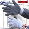 Handschoen van het Werk van de Baan van de Hand van Nmsafety de Goedkope Zwarte Latex Met een laag bedekte
