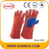 Het rode Gespleten Leer die van de Koe de Handschoenen van het Werk van de Bedrijfsveiligheid (11106) lassen