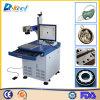 Estaca e marcação do couro do equipamento da máquina da marcação da fibra do gravador 20W do laser do metal