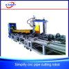 Estaca redonda grande da interseção da tubulação do plasma da base do rolo e máquina de chanfradura