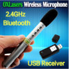 Feder Shaped Portable 2.4G Wireless Microphone Handheld Bluetooth Mic mit USB Receiver für Conference und Teaching Free Shipping