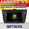 Witson Android 4.4 Car DVD para Mazda 6 2008-2012 com o Internet DVR Support da ROM WiFi 3G do chipset 1080P 8g