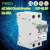 Interruttore della miniatura di CA 2p MCB di Feeo Fe7-63