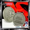 Andenken-Medaille überzogenes antikes Silber mit rotem Farbband