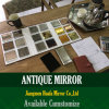 El espejo antiguo del escritorio del espejo grabó al agua fuerte la figura espejo de la decoración de la iglesia del espejo de cristal de Stianed del espejo de cristal