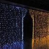 luz da cortina do Natal 200LED de 2X2m