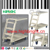 Carro plegable de escalera ajustable de metal