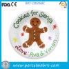 Plaque décorative peinte de biscuit de Santa d'homme de pain d'épice