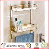 Accessoires en aluminium de salle de bains de l'espace ajustant la crémaillère de support d'essuie-main d'étagère d'or