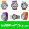 Het Horloge van de Diamant van het Kwarts van het silicone (NFSP018)