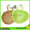 長いハンドルの自然な有機性綿のネットのショッピング・バッグのEco袋
