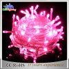 Luz feericamente da corda da decoração ao ar livre do diodo emissor de luz da cor-de-rosa