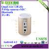 U-Chercher la boîte coulante de phase Us858 de TV du Quadruple-Noyau futé androïde TV de boîte