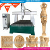 машина маршрутизатора гравировки вырезывания CNC роторная деревянная гравера экземпляра 3D