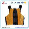 Veste de vida amarela da espuma do PVC da cor para esportes de água