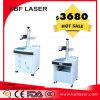 Etiqueta de plástico de escritorio del laser de la fibra del laser de la fibra de la máquina óptica de la marca