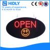 Signe ouvert ovale de l'énergie DEL d'économie de Hidly