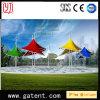 Tente extérieure d'ombrage de forme de parapluie d'horizontal