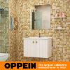 Шкаф ванной комнаты самомоднейшего белого лака Oppein деревянный (OP15-128B)