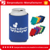 Noël Neoprene Portable Beer Bottle Cooler avec Stitching Edge