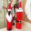 Hogar determinado del bolso de la cubierta de la botella de vino de los bolsos de Navidad para la decoración de la tabla