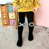 Van de Katoenen van het Meisje van de jacquard Panty van de Legging van de Kleur Ontwerpen van Legging de Buitensporige Zwart-witte