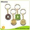 Keyring al por mayor modificado para requisitos particulares promoción de Keychain del metal del fabricante