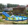 Parque inflável da água com associação e corrediça