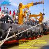 Tonelada telescópica hidráulica @ 30m do guindaste 4 da plataforma do navio do crescimento para a manipulação de Matieral