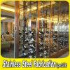 Crémaillère d'étalage de vin d'acier inoxydable en métal de modèle de mode