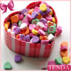 Caja de papel del cubo del corazón del regalo oval redondo del cuadrado
